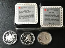 Canada 1993 1994 1995 Stl  Silver Proof Dollars  Stanley Cup Hudson's Bay RCMP