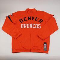 Denver Broncos G-III Sports NFL Veteran Track Jacket Orange Mens Small