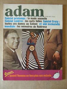 ADAM REVUE DE L'HOMME N° 309 FEVRIER 1966. MAGAZINE MODE MASCULINE.