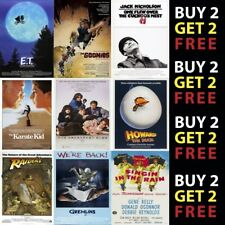 Classic Movie Film Posters Poster Prints A4 - A3 Prints On Metal Plaque