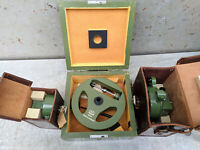 MOM BUDAPEST SURVEYING Level Theodolite Compass Instruments Set in Box