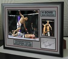 """Dan Henderson """"H BOMB"""" UFC canvas tribute signed Limited Edition """"Great Gift """""""