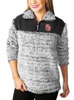 Oklahoma Sooners Winter Essential Sherpa Quarter-Zip Pullover Jacket