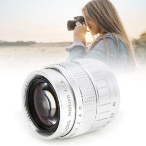 50mm F1.4 C Mount Lens Manual Fixed-Focus Lens for Canon/Fuji Mirrorless Camera