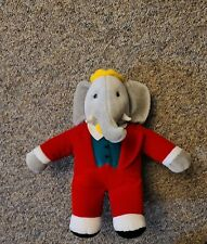 Vintage Gund Babar Elephant King Plush Crown Red Suit 1988 Stuffed Animal