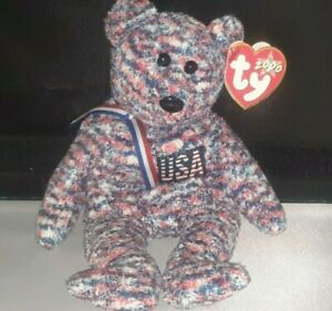 TY Beanie Buddy - USA the Bear (USA Exclusive) (8.5 Inch) - New with Mint Tags