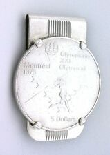 $5 CANADIAN STERLING SILVER OLYMPIADE 1976 JAVELIN FACE MONEY CLIP EBS7743