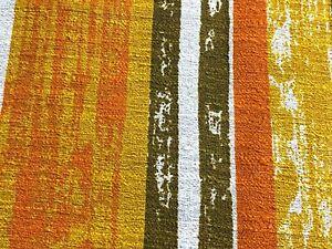 SALE! 2.6YDS Retro 60's 70's Barkcloth Vintage Fabric upholstery Mid Century MOD