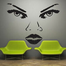 Wall Decal Girl Lips Face Makeup Fashion Salon Beauty Nails Eyes Hair M500