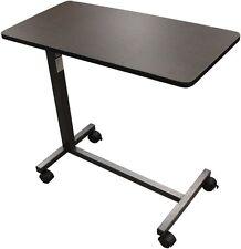 Mobile Over Bed Table Desk Ridden Wheel Non-Tilt Top Rolling Adjustable Height