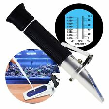 Salinity Refractometer 0-10% ATC Dual Scale Salt Sea Water Tester 1.000-1.070 SG