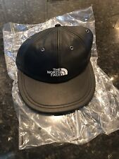 SUPREME X The North Face FW18 6-Panel Leather Black Hat