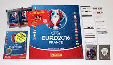 PANINI EM EURO 2016 16 France-Complete Sticker Set + album + mises à jour int. Ed.