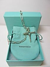 """Tiffany & Co. .925 Sterling Silver Infinity Cross Necklace 17.5"""""""