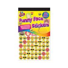 500 Divertente Viso Emoticons Sticker-Art & Craft Fustella Adesivo Scheda