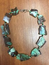 Chrysoprase Nugget Beads Bronzite Necklace