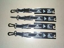 4 Adidas Wrist Lanyard,Black W/ White Trim,And Detachable Hook , New With Tags
