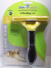 Authentic FURminator deShedding Tool LONG HAIR LARGE DOG 51-90lbs NEW-USA SELLER