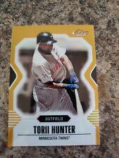 Torii Hunter 2007 Topps Finest Gold Refractor /50 Twins !!!!