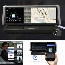 "4G 8"" FHD Touch Car DVR Driving Recorder Android Wifi GPS Dual Lens Dash Cam 16G"