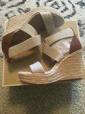 Michael Kors Prue Wedge Leather Size 7 New In Box