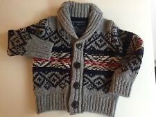 Tommy Hilfiger Baby Strick Woll Pullover Pulli Cardigan Jacke Gr. 9 - 12 Monate