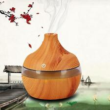 USB 300ml Aromatherapy Humidifier Purifier Wood Grain LED Essential Oil Diffuser