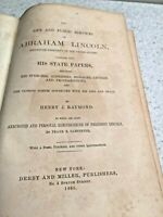 LIfe and Public Services of Abraham Lincoln 1865 by Henry Raymond 1st Edition