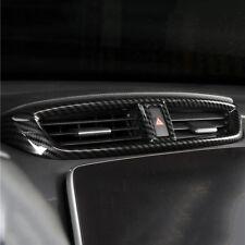Carbon fiber look interior middle A/C Vent cover trim for 2017-18 Honda CRV