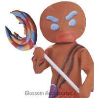 A731 Shrek Gingerbread Man Warrior Costume Toy Inflatable Lollipop Accessory