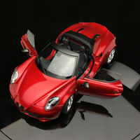 New AUTOart 1:18 Scale Alfa Romeo 4C Metal Red Fully Open Car Model Collection