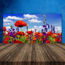 Crédence de cuisine en verre Panneau 120x60 Nature Tulipes