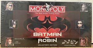 "1997 ""BATMAN AND ROBIN"" RARE COLLECTOR'S EDITION MONOPOLY GAME BRAND NEW"