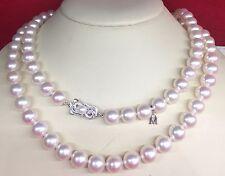 "$7460 Magnificent Mikimoto Opera 26"" White Gold Pinkish 8x7.5mm Pearl Necklace+B"