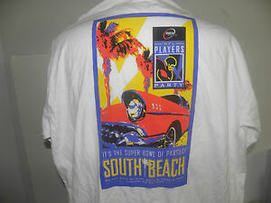 NFL PLAYERS SOUTH BEACH MIAMI PARTY @ SUPER BOWL 33.-1999  TISHIRT SIZE XL NWOT