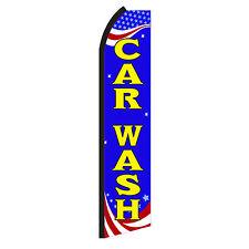 Car Wash R Advertising Flutter Feather Sign Swooper Banner Flag Only