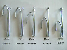 Pinch Pleat Curtain Hooks 5 Sizes Various Amounts