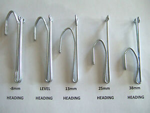 PINCH PLEAT CURTAIN HOOKS 5 SIZES & VARIOUS AMOUNTS WITH REGISTERED POST