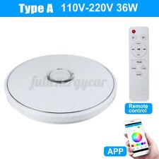 40cm 36W 110V Modern bluetooth LED Music Ceiling Light RGB Speaker Down Lamp