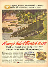 1944 Ww2 Ad Studebaker Weasel tracked Amphibious Vehicle Hollander Art 052217