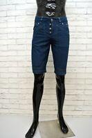 Bermuda Uomo JECKERSON Taglia 40 Short Man Pantalone Corto Elastico Blu Jeans