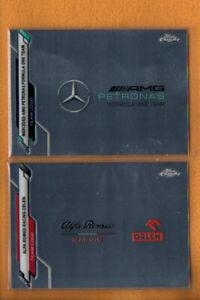 2020 Topps Chrome Formula 1 Racing Team Logos Lot 2    Mercedes-AMG Alfa Romeo