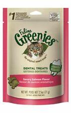 LM Greenies Feline Dental Treats - Savory Salmon Flavor  2.5 oz