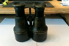 A FANTASTICALLY RARE ANTIQUE PAIR OF MILITARY BINOCULARS MARKED AGINCOURT 1888