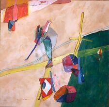 Humair Daniel acrylique et technique mixte sur papier signée 1976 Art Abstrait