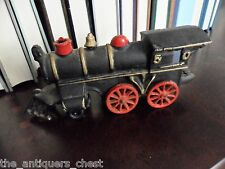 "Locomotive Cast Iron? locomotive 3"" tall x 7"" long red wheels[*small]"