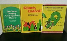 Vintage Children's Books Lot x3 Virginia Kahl Giants Indeed Dragons Monster HC