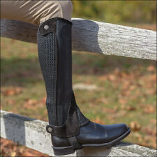 Shires Equestrian Mesh Half Chaps Childrens Brown Large
