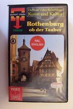 Rothenburg ob der Tauber VHS PAL Video Tape Dumont Reiseführer Bayern neuwer