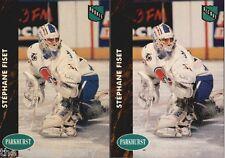 1991-92 Parkhurst #363 Stephane Fiset LOT X2 | French & English | nordiques